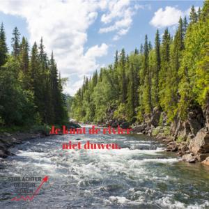 Je kunt de rivier niet duwen - Michaela Wierdsma